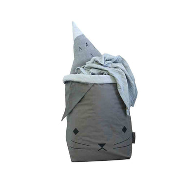 Fabelab Storage Bag - Cat - Grey-Storage- Natural Baby Shower