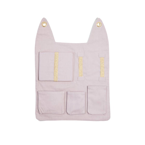 Fabelab Wall Pocket - Bunny - Mauve-Storage- Natural Baby Shower