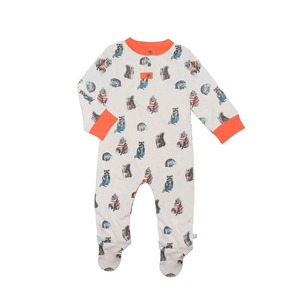 Finn + Emma Footie - Woodland-Sleepsuits- Natural Baby Shower