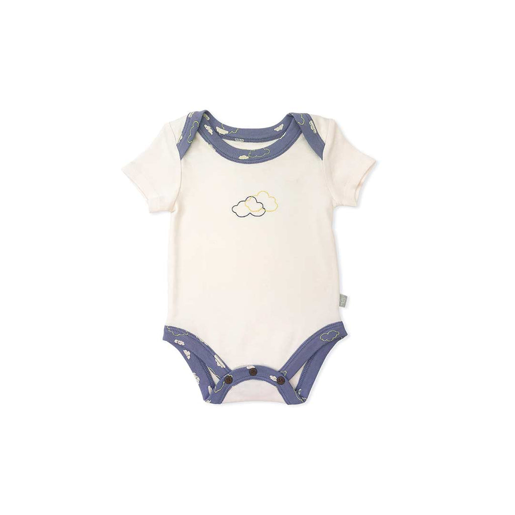 Finn + Emma Lap Bodysuit - Egret White-Bodysuits- Natural Baby Shower
