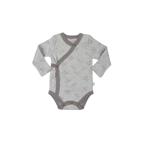 Finn + Emma Long Sleeve Bodysuit - Origami-Bodysuits- Natural Baby Shower