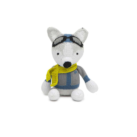 Finn + Emma Rattle Buddy - Henry the Husky-Rattles- Natural Baby Shower