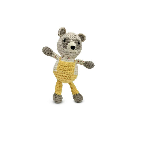 Finn + Emma Rattle Buddy - Racoon-Rattles- Natural Baby Shower