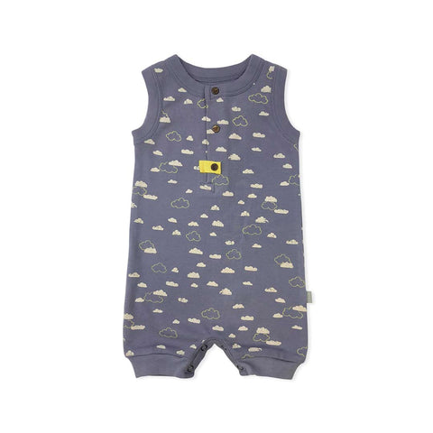Finn + Emma Romper - Cloudy Sky-Rompers- Natural Baby Shower