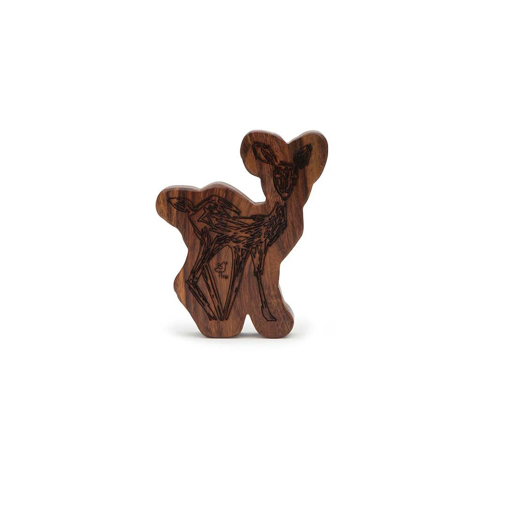 Finn + Emma Wooden Rattle Teether - Sienna the Fawn