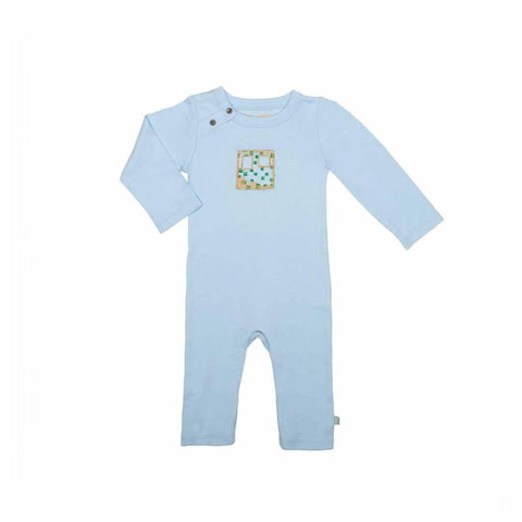 Finn + Emma Coverall - Baby Blue-Rompers- Natural Baby Shower