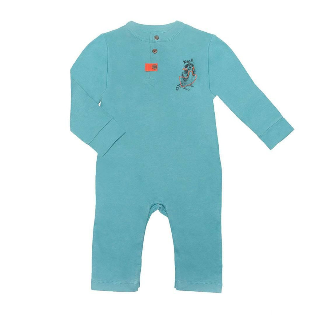 Finn + Emma Coverall in Dusty Turquoise