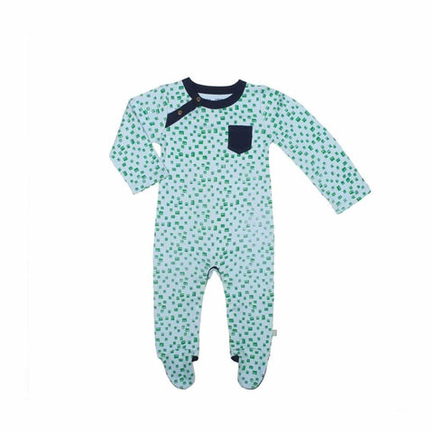 Finn + Emma Footie - Robot Heads - Babygrows & Sleepsuits - Natural Baby Shower