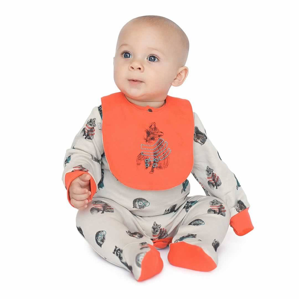 Finn + Emma Footie - Woodland - Babygrows & Sleepsuits - Natural Baby Shower