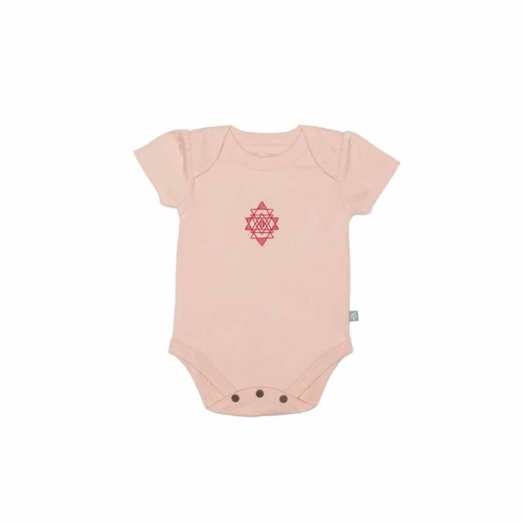 Finn + Emma Lap Shoulder Bodysuit - Tropical Peach-Bodysuits- Natural Baby Shower