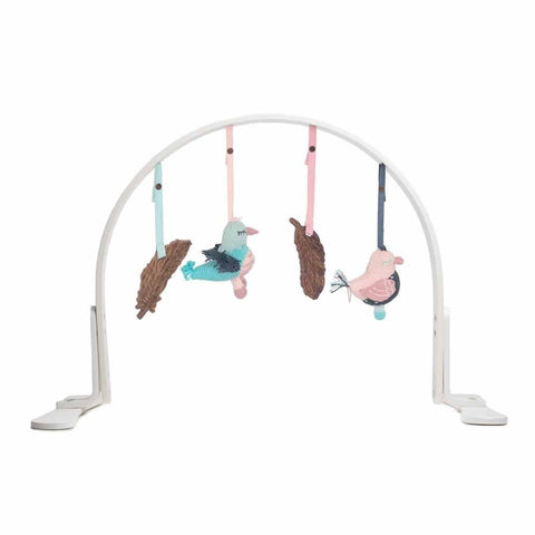 Finn + Emma Play Gym - Feather White-Baby Gym-Default- Natural Baby Shower