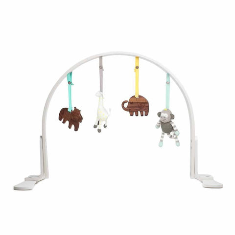 Finn + Emma Play Gym - Jungle White-Baby Gym-Default- Natural Baby Shower