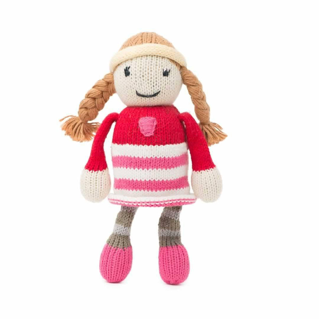 Finn + Emma Rattle Buddy - Clementine Front