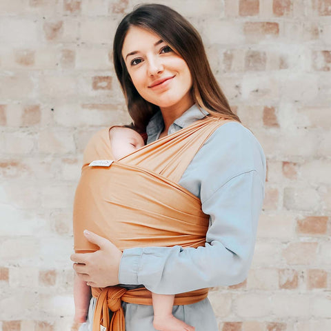 FreeRider Baby Wrap Carrier - Camel-Baby Carriers- Natural Baby Shower