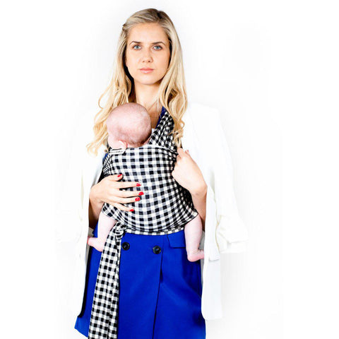 FreeRider Baby Wrap Carrier - Gingham-Baby Carriers- Natural Baby Shower