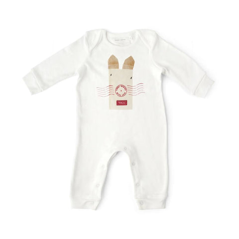 From Babies With Love Babygrow - Rabbit - Babygrows & Sleepsuits - Natural Baby Shower