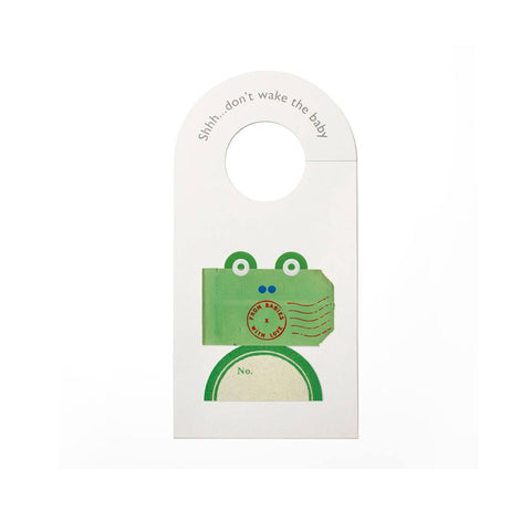 From Babies With Love Door Hanger - The Frog - Nursery Accessories - Natural Baby Shower
