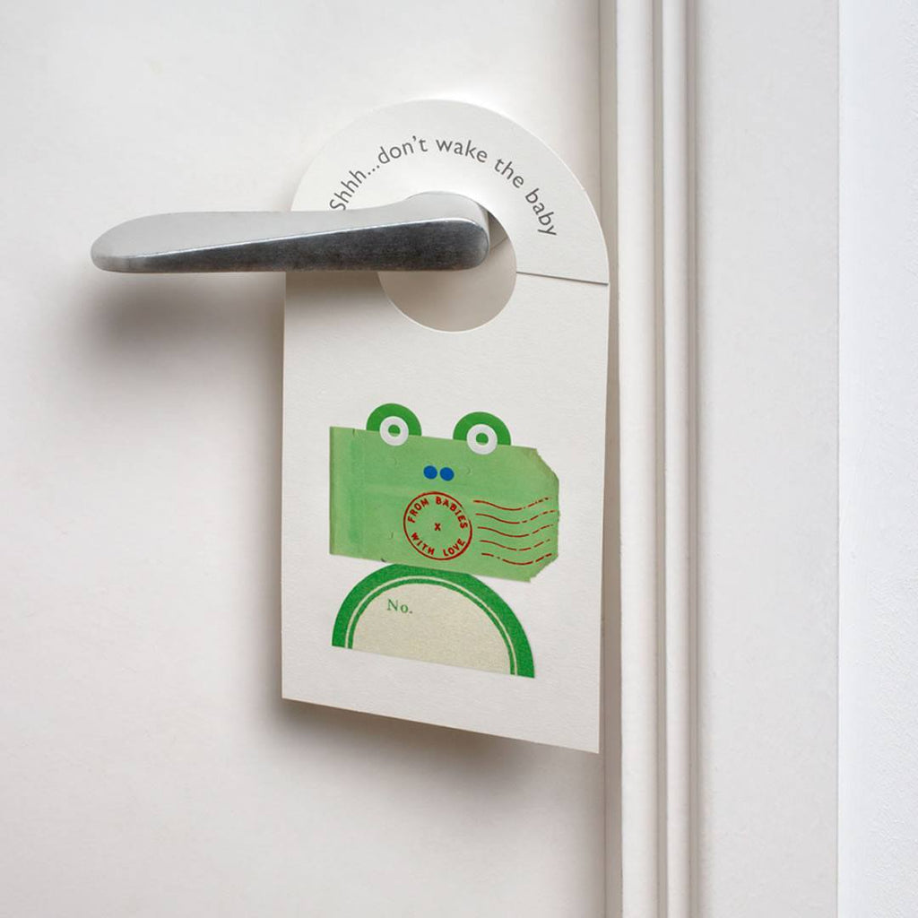 From Babies With Love Door Hanger in The Frog