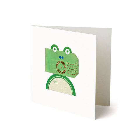 From Babies With Love Greetings Card - Frog-Greeting Cards- Natural Baby Shower