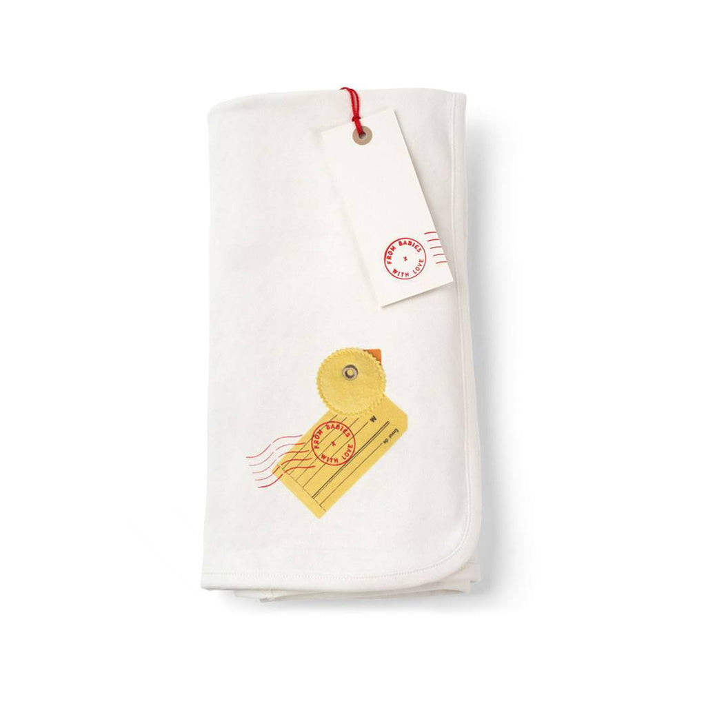 From Babies With Love Swaddle Blanket in Duck