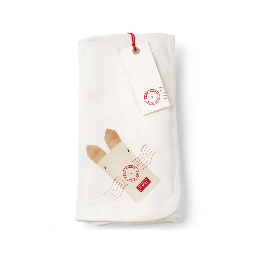 From Babies With Love Swaddle Blanket in Rabbit