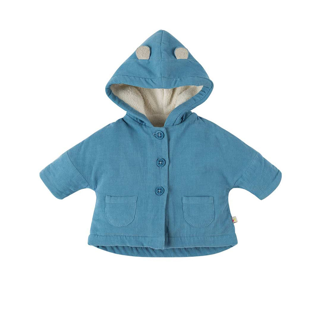 616ff7a9daca Frugi Bear Club Cord Coat in Stone Blue – Natural Baby Shower