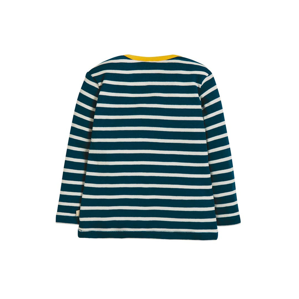 Frugi Bobby Applique Top - Space Blue Breton-Long Sleeves- Natural Baby Shower