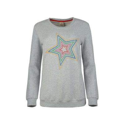Frugi Bryony Jumper - Grey Marl/Star-Maternity Tops- Natural Baby Shower