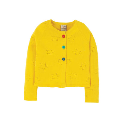 Frugi Carrie Knitted Cardigan - Sunflower-Cardigans- Natural Baby Shower
