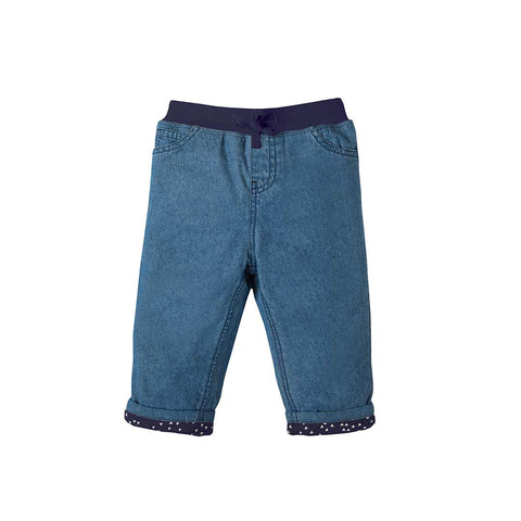 Frugi Comfy Lined Jeans - Chambray-Pants- Natural Baby Shower
