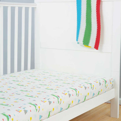 Frugi Cosy Cot Bed Sheets - 2 Pack - Island Life-Sheets-One Size-Island Life- Natural Baby Shower