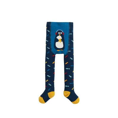 Frugi Crawl Away Tights - Multi Fish/Penguin-Tights- Natural Baby Shower