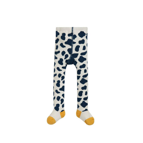 Frugi Crawl Away Tights - Space Blue/Cow-Tights- Natural Baby Shower