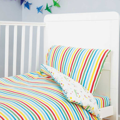 Frugi Cuddle-Up Jersery Cot Bed Duvet Set - Island Life-Bedding Sets-One Size-Island Life- Natural Baby Shower