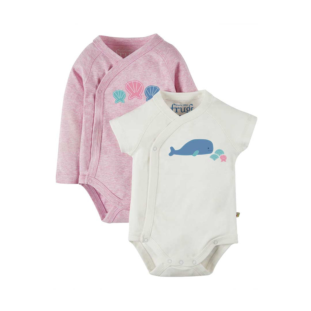 f11eb850964e Frugi Cuddly Kimono Bodies in Whale - 2 Pack – Natural Baby Shower