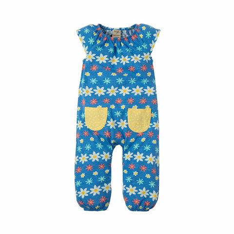Frugi Dory Gathered Playsuit - Flower Farm-Rompers- Natural Baby Shower