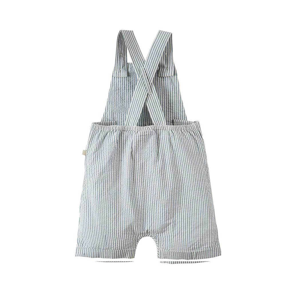 Frugi Dune Dungaree - Seersucker/Whale-Dungarees- Natural Baby Shower