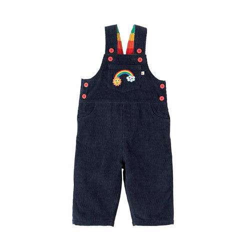 Frugi Dylan Dungarees - Navy/Rainbow