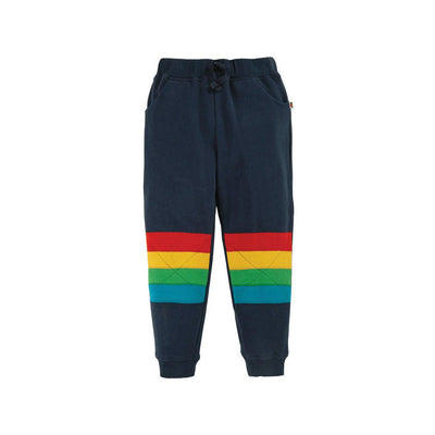 Frugi Kieran Kneepatch Jogger - Indigo/Stripe-Pants- Natural Baby Shower