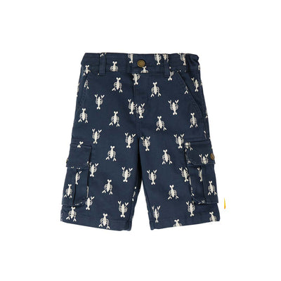 Frugi Explorer Shorts - Indigo Lobster-Shorts- Natural Baby Shower