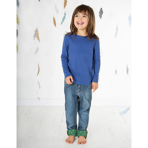 Frugi Favourite Long Sleeve Tee - True Blue-Long Sleeves- Natural Baby Shower