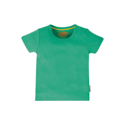 Frugi Favourite T-Shirt - Pacific Aqua-Short Sleeves- Natural Baby Shower
