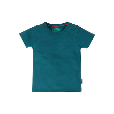 Frugi Favourite T-Shirt - Steely Blue-Short Sleeves- Natural Baby Shower