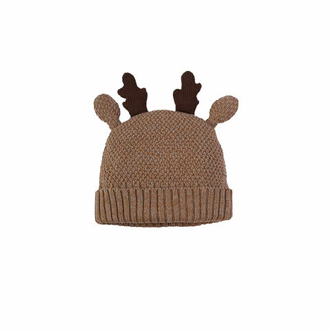 ... Frugi Friendly Face Knitted Hat - Walrus Brown Reindeer-Hats- Natural  Baby Shower 50f10f0a6f4