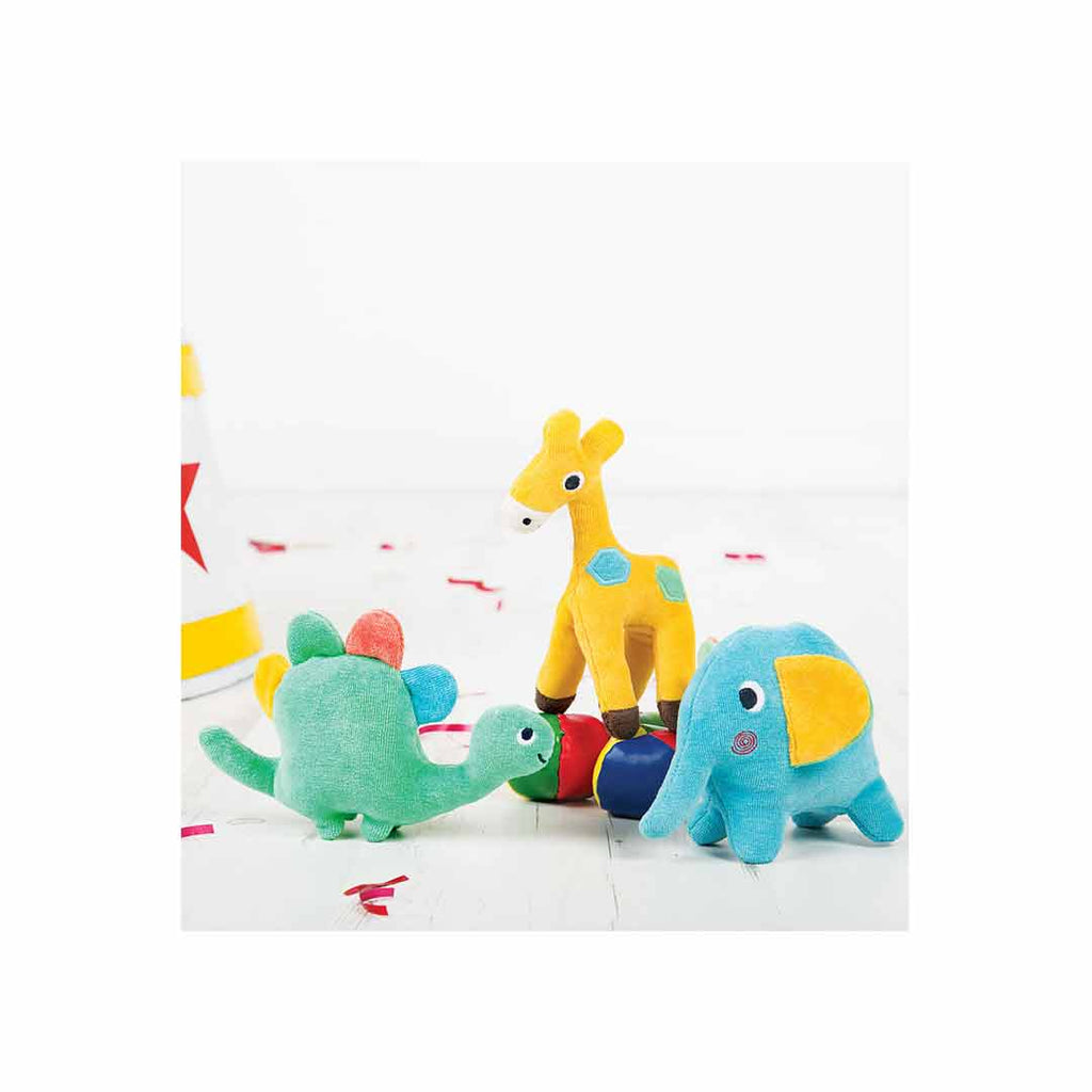 Frugi Froogli Soft Rattle - Dinky Dinosaur-Comforters-Dinky Dinosaur- Natural Baby Shower