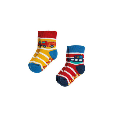 Frugi Grippy Socks - Transport Mulitpack - 2 Pack-Socks- Natural Baby Shower