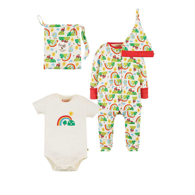 Frugi Happy Days Baby Gift Set - Happy Days-Clothing Sets- Natural Baby Shower