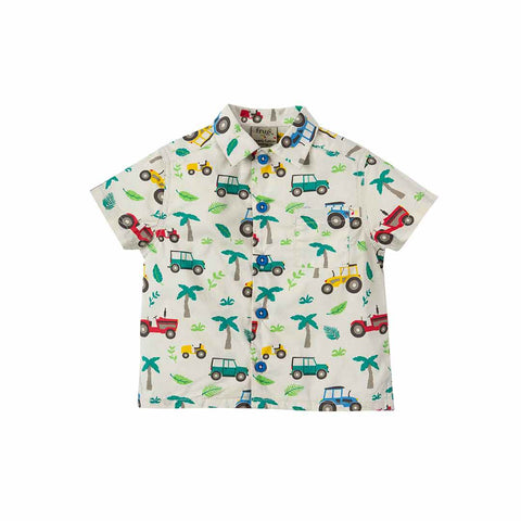 Frugi Harvey Hawaiian Shirt - Tropical Tresco-Short Sleeves- Natural Baby Shower