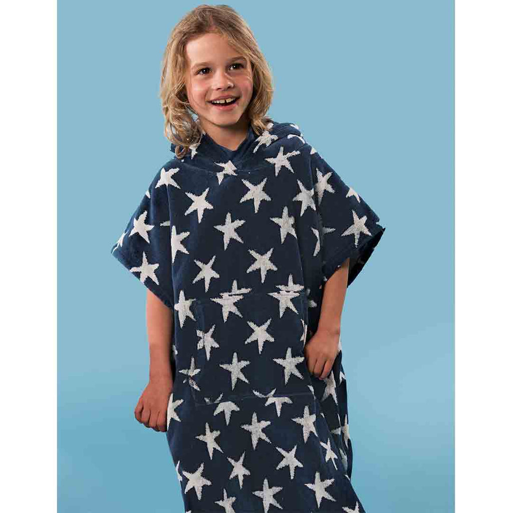Frugi Havana Hooded Towel - Star Print 2