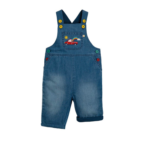 Frugi Hopscotch Dungarees - Light Wash Denim-Dungarees- Natural Baby Shower